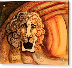 Roaring Lion  Acrylic Print by Dan Earle