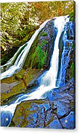 Roaring Run Falls State Park Virginia Acrylic Print by The American Shutterbug Society