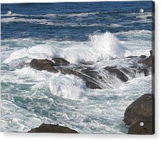 Roaring Water Acrylic Print by Barb Morton