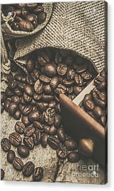 Roasted Coffee Beans In Close-up  Acrylic Print by Jorgo Photography - Wall Art Gallery