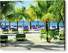 Roatan Island Resort Acrylic Print