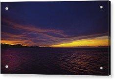 Roatan Sunset Acrylic Print by Stephen Anderson