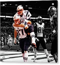 Rob Gronkowski And Tom Brady Acrylic Print by Brian Reaves