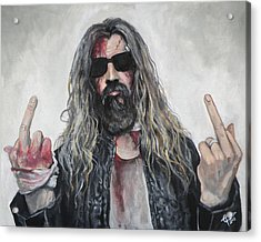 Rob Zombie Acrylic Print by Tom Carlton