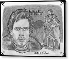 Robb Stark King Of The North Acrylic Print by Chris  DelVecchio