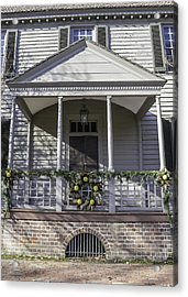 Robert Carter House Porch 02 Acrylic Print by Teresa Mucha