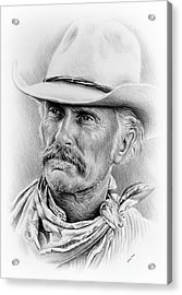 Robert Duvall Ver Two Signed Acrylic Print by Andrew Read