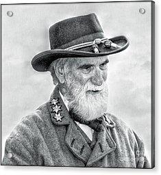Robert E Lee Confederate General Portrait Acrylic Print by Randy Steele
