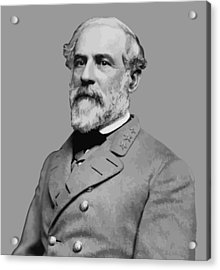 Robert E Lee - Confederate General Acrylic Print by War Is Hell Store