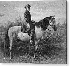 Robert E Lee On His Horse Traveler Acrylic Print by American School
