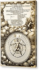 Robert Fludds Book On Metaphysics, 1617 Acrylic Print by Science Source