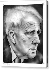 Robert Frost Acrylic Print by Greg Joens