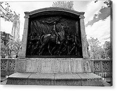 robert gould shaw monument to the 54th massachusetts volunteer infantry Boston USA Acrylic Print