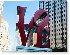 Robert Indiana Love Sculpture Acrylic Print
