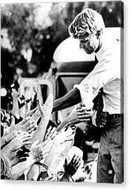 Robert Kennedy Shaking Hands Acrylic Print