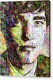 Acrylic Print featuring the mixed media Robert Pattinson by Svelby Art