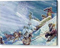 Robert Peary's Expedition To The North Pole Acrylic Print