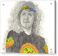 Robert Plant Acrylic Print by Bari Titen
