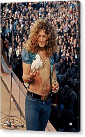 Robert Plant Of Led Zeppelin Acrylic Print