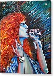 Robert Plant  Acrylic Print by Yelena Rubin