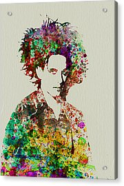 Robert Smith Cure 2 Acrylic Print by Naxart Studio