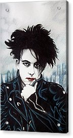 Acrylic Print featuring the drawing Robert Smith by Danielle R T Haney