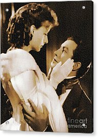 Robert Taylor And Greta Garbo Acrylic Print