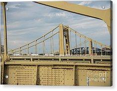 Roberto Clemente Bridge Acrylic Print by David Bearden