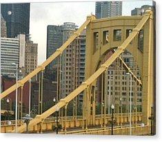 Roberto Clemente Bridge Acrylic Print by Deb Sagan