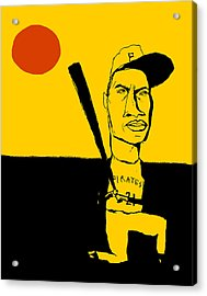 Roberto Clemente Pittsburgh Pirates Acrylic Print by Jay Perkins