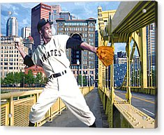 Roberto's Bridge Acrylic Print by George Curcio