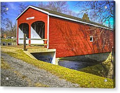 Roberts Covered Bridge Acrylic Print
