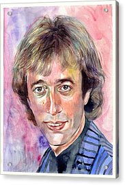 Robin Gibb Portrait Watercolor Acrylic Print