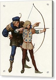 Robin Hood Trains A Young Archer Acrylic Print