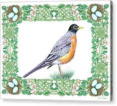 Robin In Spring Acrylic Print
