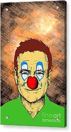 Robin Williams 1 Acrylic Print by Jason Tricktop Matthews