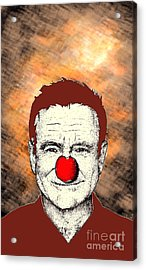 Robin Williams 2 Acrylic Print by Jason Tricktop Matthews