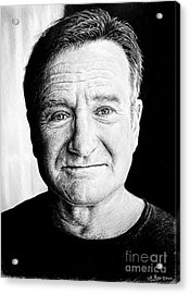 Robin Williams Acrylic Print by Andrew Read