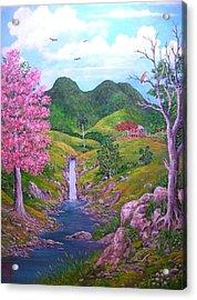 Roble Florecido Acrylic Print by Jose Lugo