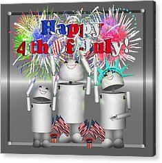 Robo-x9 Celebrates Freedom Acrylic Print