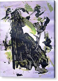 Robot Breaking Up Acrylic Print by Bruce Combs - REACH BEYOND