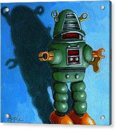 Robot Dream - Realism Still Life Painting Acrylic Print by Linda Apple