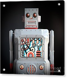 Robot R-1 Square Acrylic Print by Edward Fielding