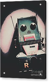 Robotic Mech Under Vintage Spotlight Acrylic Print