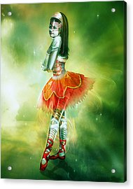 Robots Can Dream Too Acrylic Print by Mary Hood