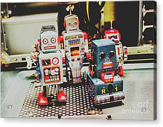 Robots Of Retro Cool Acrylic Print by Jorgo Photography - Wall Art Gallery