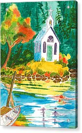 Roche Harbor Chapel Acrylic Print by Buster Dight
