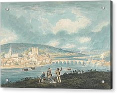 Rochester, Kent- From The North Acrylic Print by Thomas Girtin