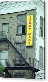 Acrylic Print featuring the photograph Rochester, New York - Jimmy Mac's Bar 2 by Frank Romeo