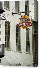 Acrylic Print featuring the photograph Rochester, New York - Jimmy Mac's Bar 3 by Frank Romeo